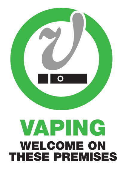 Print-Ready Signs for Vapor-Friendly Establishments